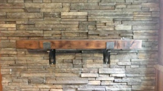 Metal mantel for fireplace
