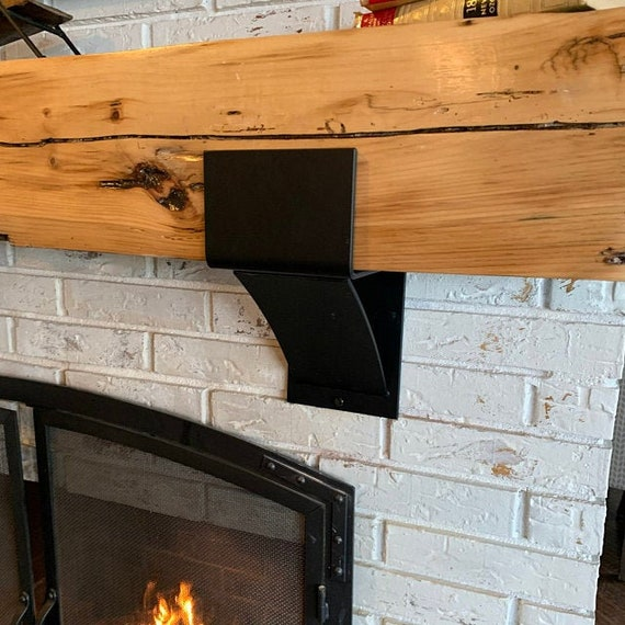 "6"" wide Fireplace Bracket, SOLD INDIVIDUALLY, Mantel Decor, Rustic Mantel, Farmhouse Decor, Mantel Shelf, Metal Shelf Bracket Industrial"