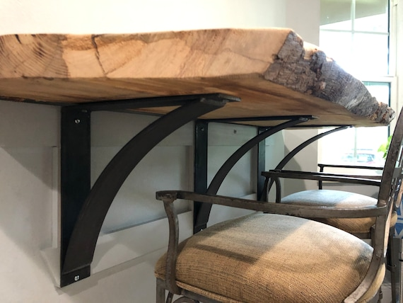 "4"" Support Bracket, Countertop Support, Display Shelf, Entry Way Shelf, Entry Shelf, Wood Shelf, Steel Shelving, Steel Shelf Brackets"