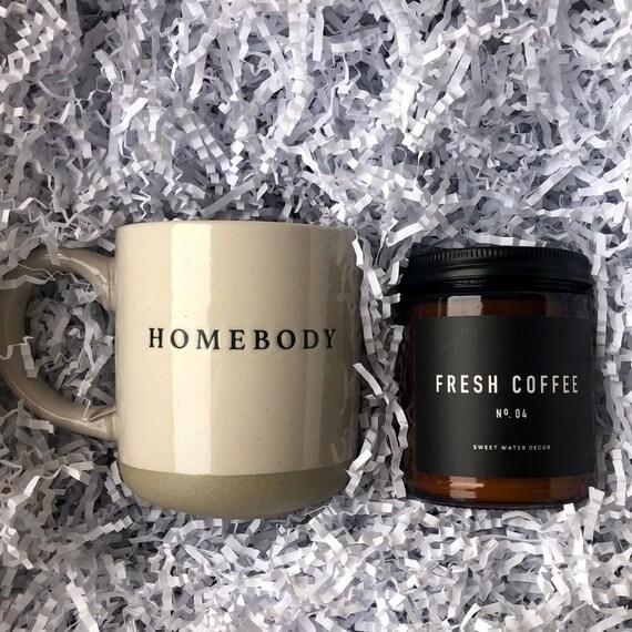 Coffee Lovers Gift, Housewarming Gift, Coffee Bar Decor, Coffee Scented Candle, Homebody Coffee Mug, Farmhouse Decor, Coffee Decor