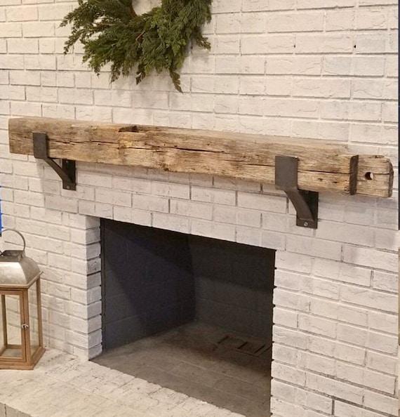 Rustic Mantel Support, SOLD INDIVIDUALLY, Fireplace Mantel Bracket with Lip, Heavy Duty Brackets, Lip Bracket Wood Mantle, Shelf Supports