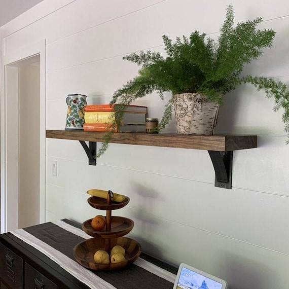"""4"""" Wide Industrial Shelf Bracket, SOLD INDIVIDUALLY, Bookshelf, Wood Shelves, Rustic Modern Shelf, Heavy Duty Shelf Bracket Metal Corbel"""
