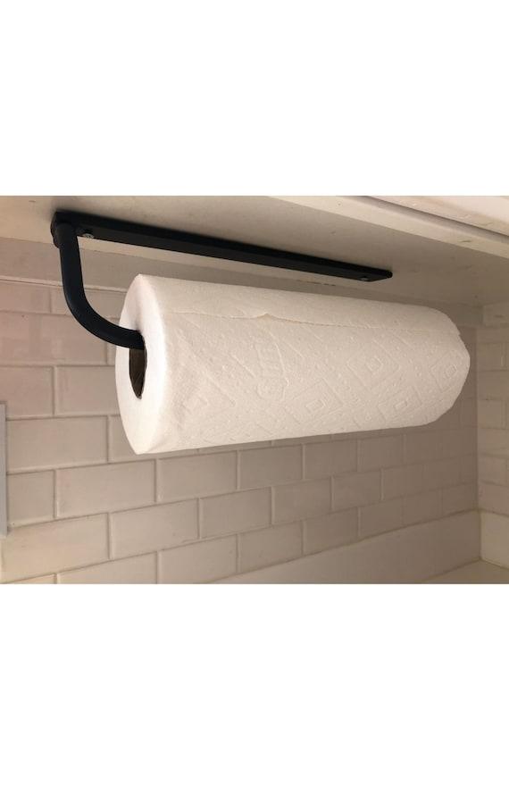Steel Paper towel holder, Kitchen Fixture,  Kitchen towel holder, Wall Mounted Paper Towel Holder, Under Cabinet Mounted Paper Towel Holder