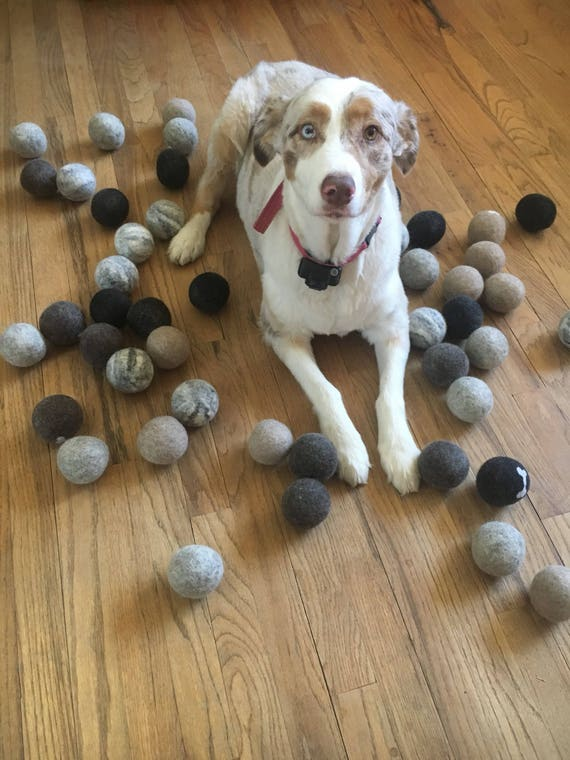 Dog Toy wool ball play toy fetch toy organic and natural