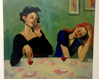 """TOO MUCH FUN by Linda Kyser Smith S&N Limited Edition Serigraph 30x32"""""""