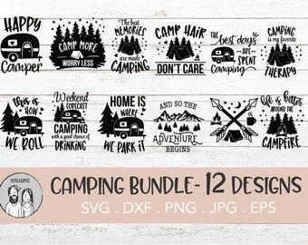Camping Bucket Svg Etsy