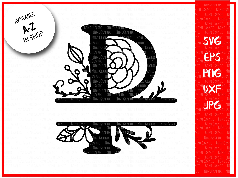 Split P Home Decor: Monogram Letter P Split Letter P Silhouette Files SVG