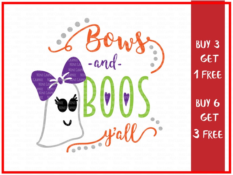 Bows-and-boos SVG kids png bows /& Boos ghost svg scrapbooking file EPS cutting file silhouette file Halloween svg DXF halloween png