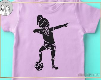 Soccer Dabbing, Soccer svg, Girls Soccer svg, Soccer svg, dabbing soccer, gameday svg, PNG, Soccer clipart, soccer silhouette, Soccer design