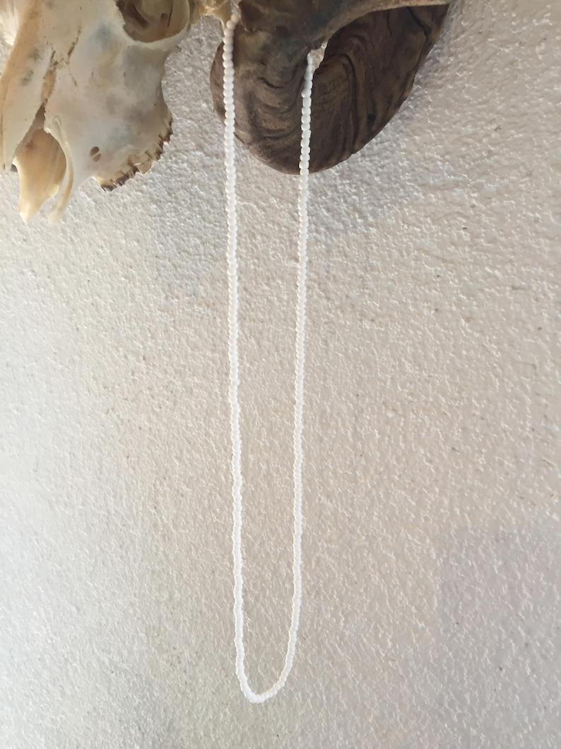 Ileke Obatala Eleke Orisha Collar Santo Santeria Necklace Kette