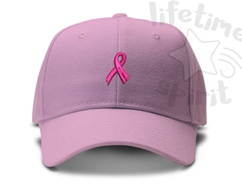 Breast Cancer Awareness Ribbon Low Profile Dad Hat Summer Beach Cap eafb99dc42f6