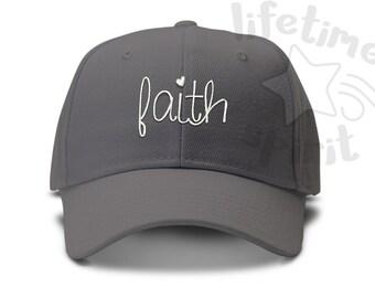 Faith- Hadnwriting Script - Low Profile Dad Hat Summer Beach Fun Cap