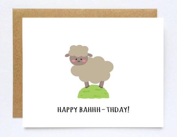 Sheep Card Sheep Birthday Card Nephew Birthday Card Niece Etsy