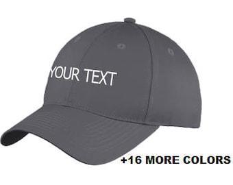 16bafe8f99b CUSTOM TEXT Baseball Hat