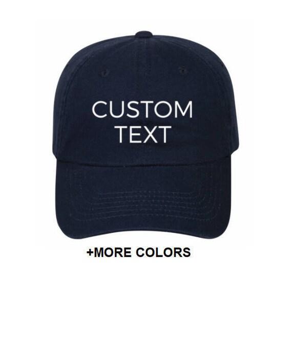 4175f9d4869 CUSTOM TEXT Garment Washed Cotton Twill Hat Custom