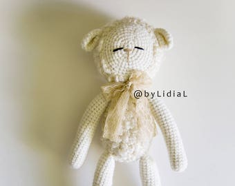 Crochet Sheep Lamb Toy Baby shower Gift