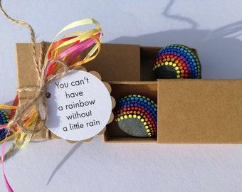 Rainbow in the box Mutmacher Lucky Stone Hope Lucky Charm
