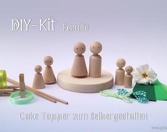 DIY Kit Cake Topper Family