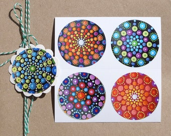 "4 Sticker ""Mandala"" sticker art Sticker Type"