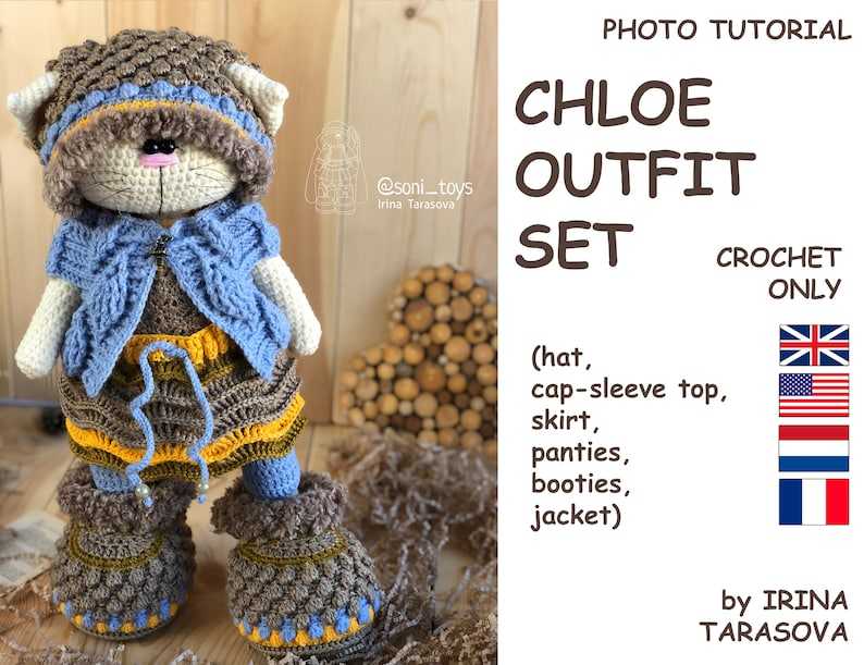 91a0008004f Chloe. Crochet pattern by Irina Tarasova. English Nederlands