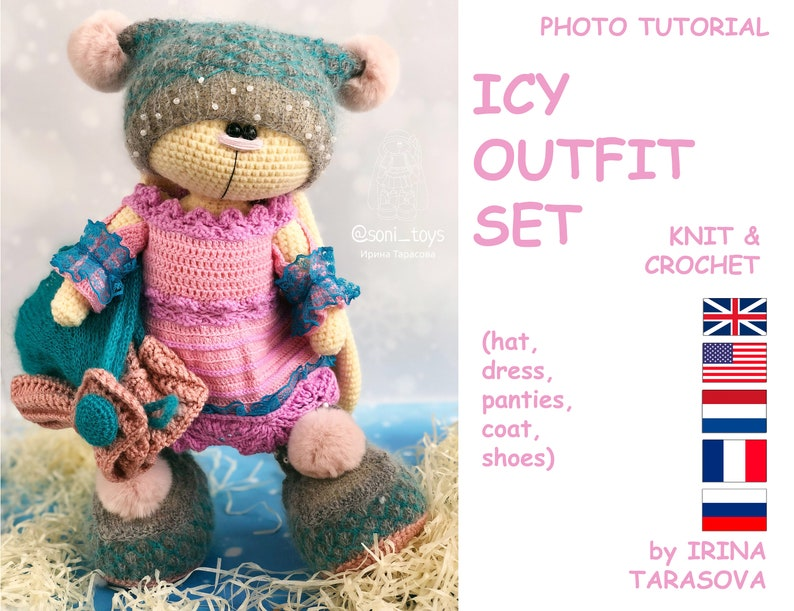 8e044e4dfd1 ICY outfit set clothes knit crochet pattern for big crochet