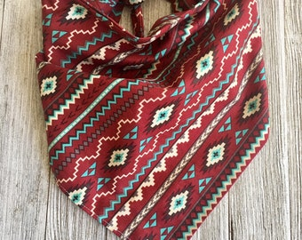 Aztec Tie On Dog Bandana