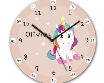 Rainbow Unicorn Clock Girl Boy Bedroom Fantasy Chasing Rainbows