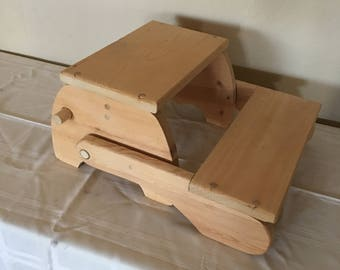 Small step stool, Seat for small child, Step stool, Childrens' furniture, Kitchen, Handmade, Folding