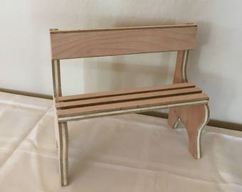 Dolls, Doll furniture, Park bench, Baby doll