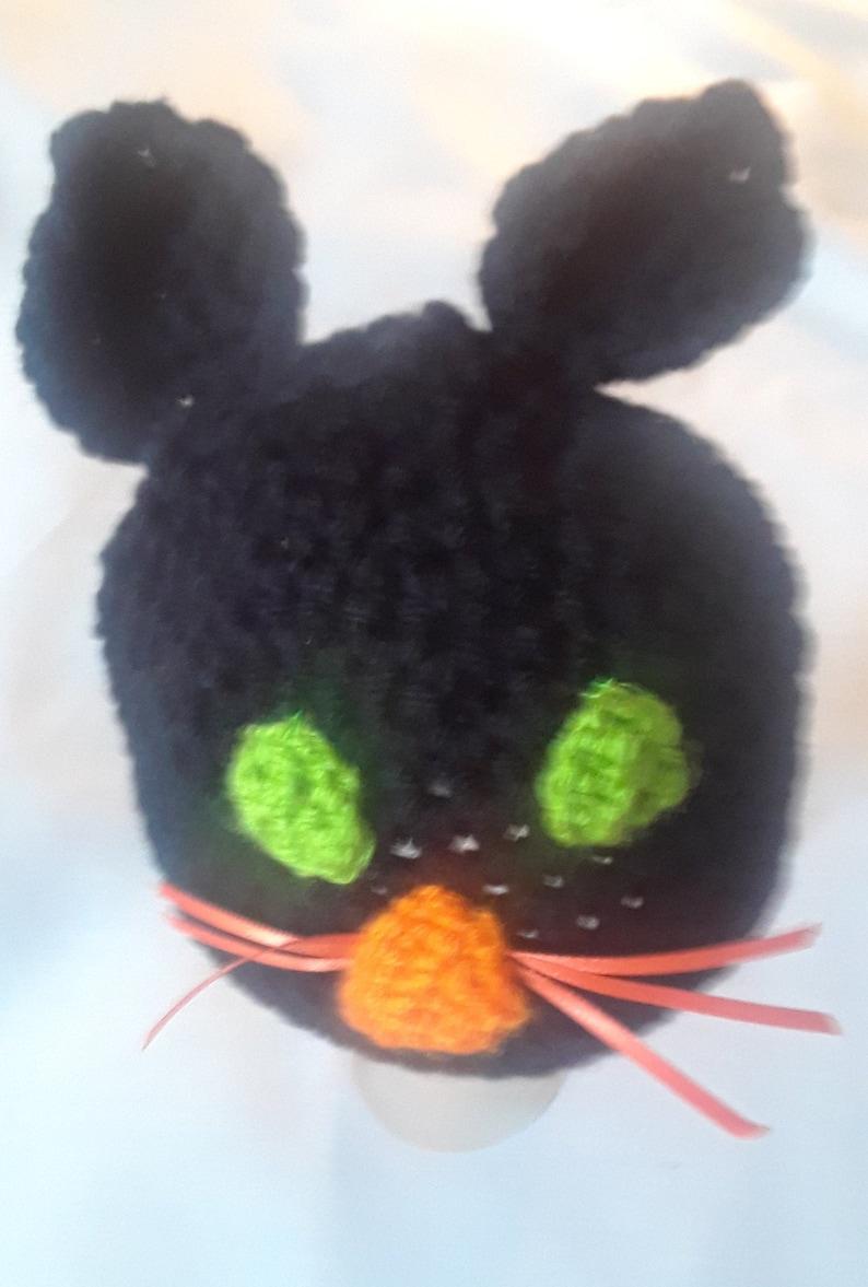 black cat costume preemie Preemie Halloween costume baby Halloween costume crochet photography prop handmade Halloween costume preemie