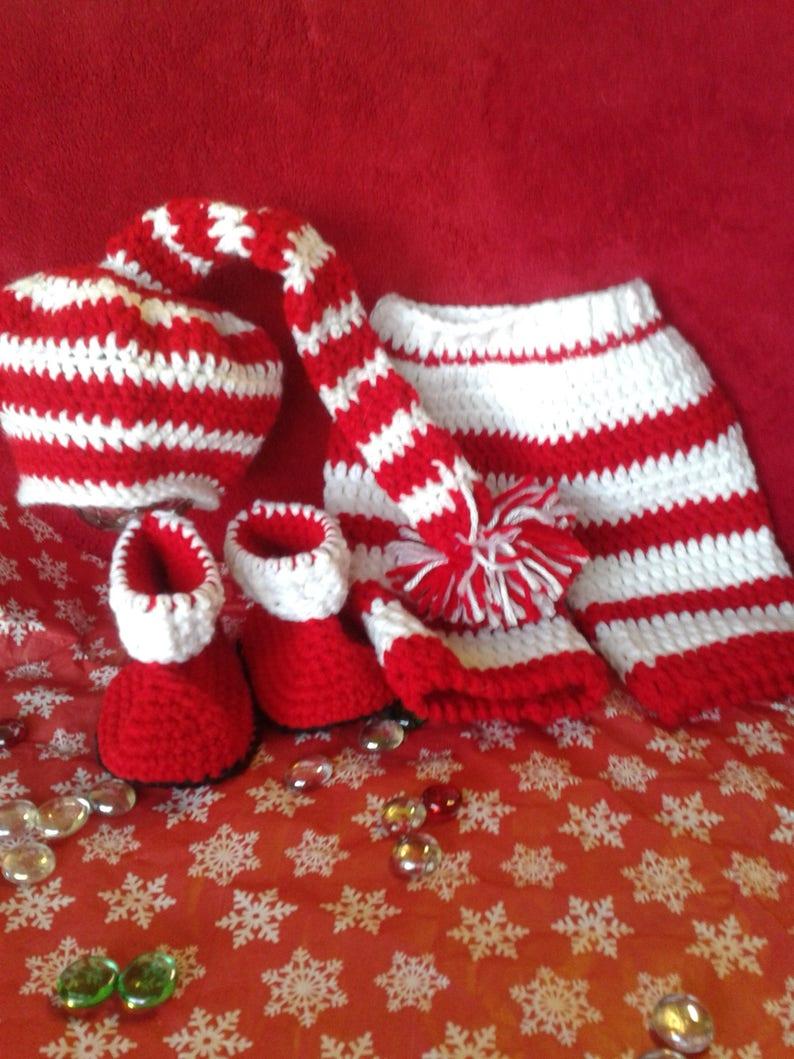 752282bef Preemie Christmas clothes, Preemie Christmas photo prop, Newborn Christmas  outfit, Crochet Christmas outfit preemie, Handmade Christmas hat