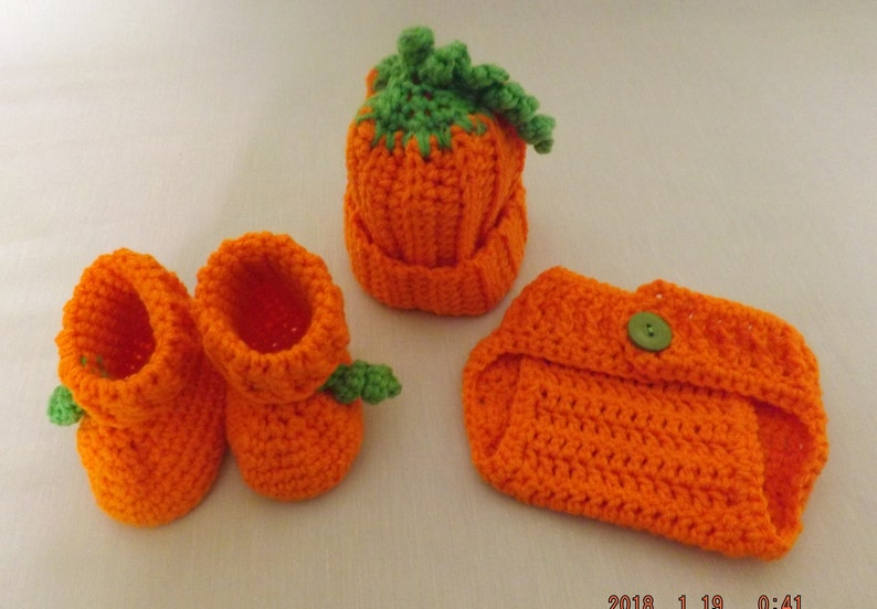 Newborn Crochet Pumpkin Costume Halloween Costumes Newborn Etsy