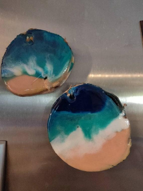 Beach SEA MERMAID Glass Magnets Refrigerator Strong 1 1//8 Round