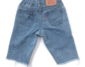 Upcycled Levi's Cut Off Shorts // Distressed // Bermuda // Size 3T