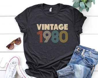 39th Birthday For Women Vintage 1980 T Shirt Gift 39 Party Mom