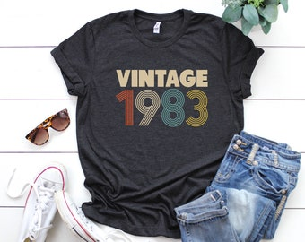 35th Birthday For Women Vintage 1983 T Shirt Gift Party Mom