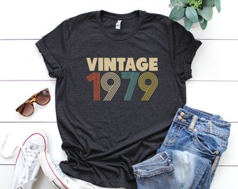 40th Birthday Gift For Women Vintage 1979 T Shirt 40 Party Mom