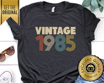 34th Birthday Gifts For Women Vintage 1985 Shirt Gift Party Unisex