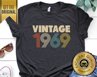 50th Birthday For Women Vintage 1969 Shirt Gift Unisex Rogue Droid