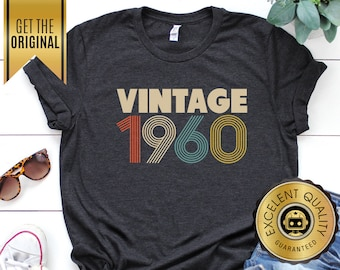 c03ba2cd 59th Birthday Gifts for Women, Vintage 1960 T-Shirt, 59th Birthday, 59th  Birthday Gift, 59th Birthday Shirt, 59th Tee, 1960 Unisex Shirt