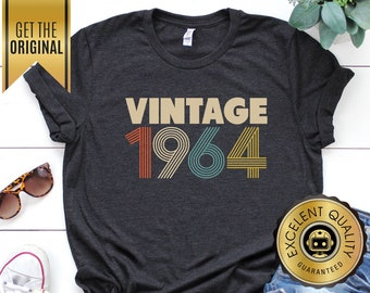 83141a6d8 55th Birthday Gifts for Women, Vintage 1964 T-Shirt, 55th Birthday, 55th  Birthday Gift, 55th Birthday Shirt, 1964 Unisex Shirt, Rogue Droid