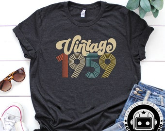 a79109ea8 1959 Shirt, 60th Birthday Shirt, Gift For Women, Vintage 1959 Shirt, 50th Birthday  Shirt, 60th Birthday, Unisex Shirt, Rogue Droid