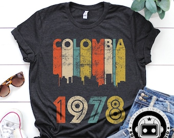 99f016a990a Colombia 41st Birthday for Women, Vintage 1978 T-Shirt, Colombia Gift, 41st  Birthday Gift, 41 Birthday Shirt, 1978 T-Shirt Mom, Unisex Shirt