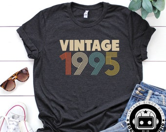 24th Birthday Gifts For Women Vintage 1995 Shirt Gift Party Tee