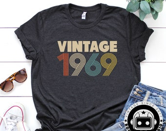 50th Birthday For Women Vintage 1969 Shirt Gift Party Rogue Droid