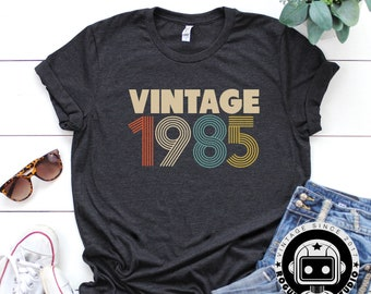 34th Birthday Gifts For Women Vintage 1985 Shirt Gift Party Tee