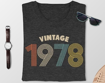 41st Birthday Gifts For Men Vintage 1978 Shirt Mens Graphic Tee Gift Party