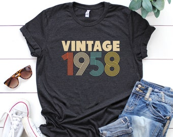 60th Birthday Gift For Women Vintage 1958 T Shirt Party TShirt