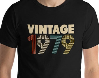 39th Birthday Gift For Man 39 Shirt Women Men Vintage 1979 Tshirt Party