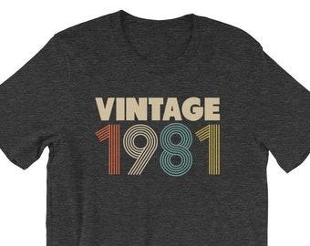 304fc0d3b Vintage 1981 Shirt, 37th Birthday Shirt Woman, 37th Birthday Gift, 1981  Shirt Woman, 1981 Shirt Men